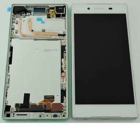 PANTALLA LCD DISPLAY + TACTIL CON MARCO ORIGINAL PARA SONY XPERIA Z5 E6603, E6653 - BLANCA