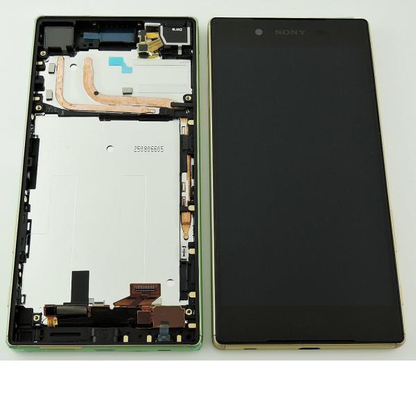 PANTALLA LCD DISPLAY + TACTIL CON MARCO ORIGINAL PARA SONY XPERIA Z5 E6603, E6653 - ORO
