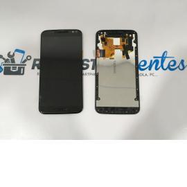 PANTALLA TACTIL + LCD DISPLAY CON MARCO PARA MOTOROLA MOTO X STYLE X3 XT1570 - NEGRA