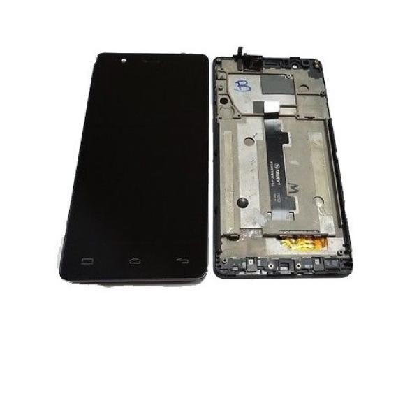 PANTALLA LCD + TACTIL CON MARCO ORIGINAL BQ E5 4G NEGRA TFT5K0982FPC-A2-E - RECUPERADA