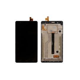 REPUESTO PANTALLA LCD DISPLAY + TACTIL CON MARCO ORIGINAL BQ AQUARIS E6 NEGRA - RECUPERADA