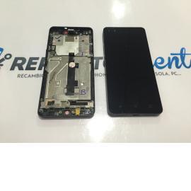PANTALLA LCD DISPLAY + TACTIL CON MARCO ORIGINAL PARA BQ AQUARIS M4.5 , A4.5 NEGRA - RECUPERADA