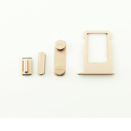 Set de Teclas + Bandeja de Tarjeta SIM para iPhone SE - Rosa