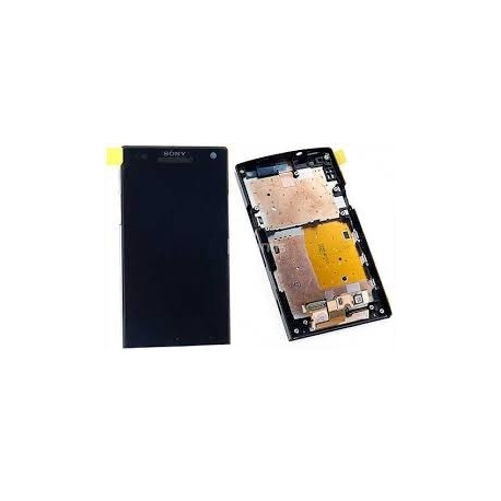 Pantalla completa lcd + tactil con marco original Sony Xperia S LT26i negra de desmontaje