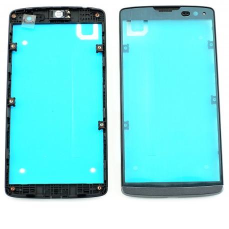 Carcasa Frontal de LCD para LG H340N Leon LTE - Negro Titan