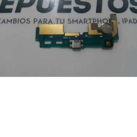MODULO CONECTOR DE CARGA + MICRO Y ANTENA ZTE BLADE S6 PLUS - RECUPERADO