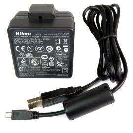 CARGADOR ADAPTADOR CAMARA NIKON MODEL EH-69P + CABLE USB - RECUPERADO