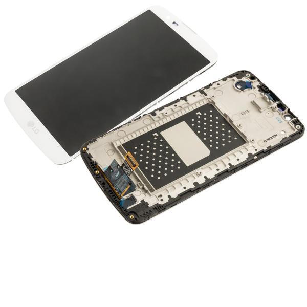 PANTALLA LCD DISPLAY + TACTIL CON MARCO ORIGINAL PARA LG K10 K420N - BLANCA