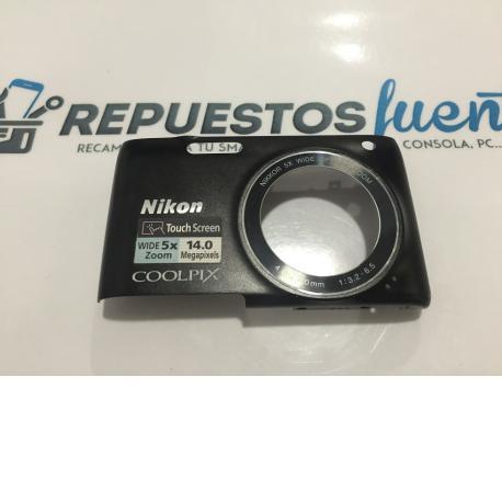 Carcasa Frontal para Camara Nikon coolpix s4150 Negra - Recuperada