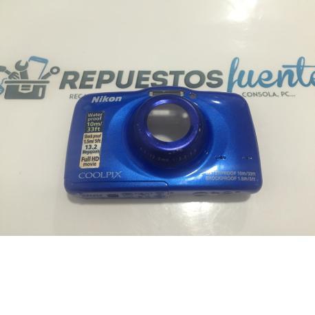 Carcasa Frontal Con botones Nikon Coolpix S32 Azul - Recuperada