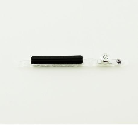 Boton de Encendido y Volumen para Sony Xperia C5 Ultra E5506, E5553 Xperia C5 Ultra Dual E5533, E5563 - Negra