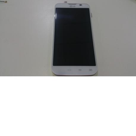 Pantalla LCD Display + Tactil con marco LG L90 DUAL D410 blanca - Recuperada