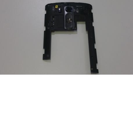 Carcasa intermedia con lente y botones de volumen + on/off LG G3 D855 - Recuperada