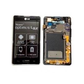 Pantalla LCD Display + Tactil con Marco para LG Optimus L5 2 E460 - Negra