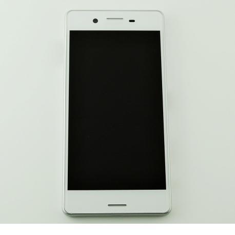 PANTALLA LCD DISPLAY + TACTIL CON MARCO ORIGINAL PARA SONY XPERIA X (F5121), XPERIA X DUAL (F5122) - BLANCO