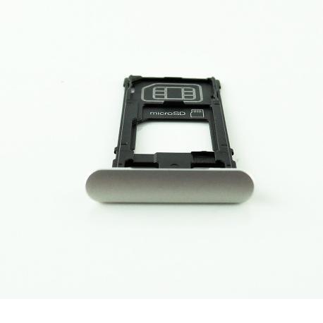 BANDEJA TARJETA SIM / SD ORIGINAL PARA SONY XPERIA X (F5121) - BLANCA