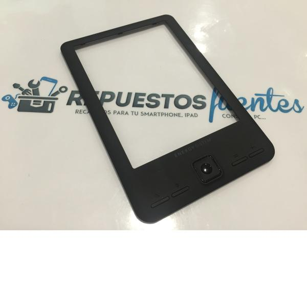 "CARCASA MARCO FRONTAL CON BOTONES ORIGINAL ENERGY EREADER SCREENLIGHT 6"" - RECUPERADA"