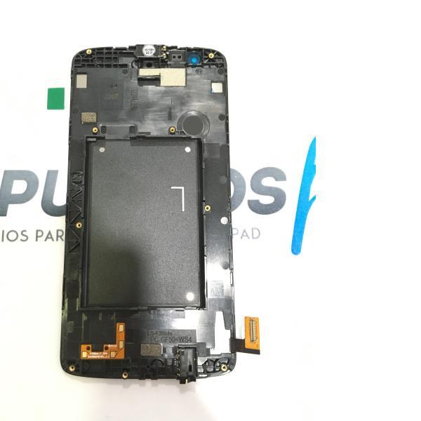 PANTALLA LCD DISPLAY + TACTIL CON MARCO ORIGINAL PARA LG K8 K350N - NEGRA