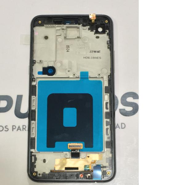 PANTALLA LCD DISPLAY + TACTIL CON MARCO ORIGINAL PARA LG K500N X SCREEN,K500, X SCREEN - NEGRA