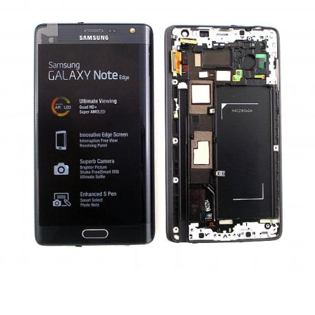 PANTALLA LCD DISPLAY + TACTIL CON MARCO ORIGINAL SAMSUNG GALAXY NOTE EDGE SM-N915FY , SM-N915G - NEGRA