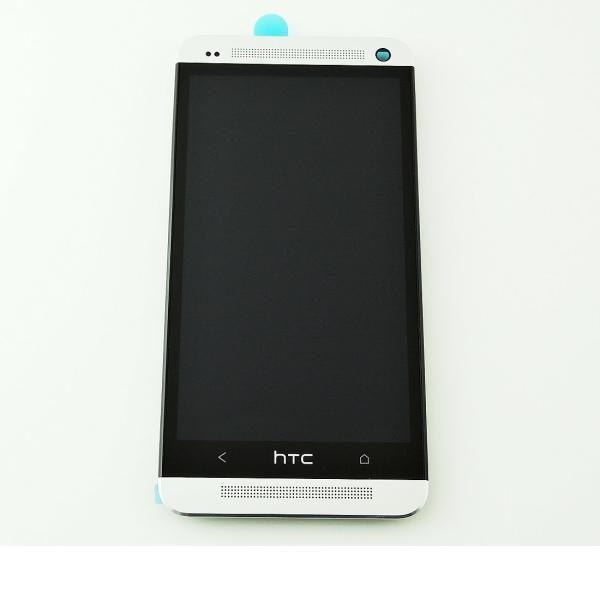 PANTALLA LCD DISPLAY + TACTIL CON MARCO ORIGINAL PARA HTC ONE M7 - BLANCO
