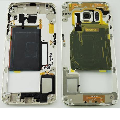 Carcasa Intermedia con Lente para Samsung Galaxy S6 SM-G920 Oro - Recuperada