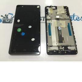 PANTALLA LCD + TACTIL CON MARCO ORIGINAL BQ E5 4G E5S TFT5K0982FPC-A2-E NEGRA