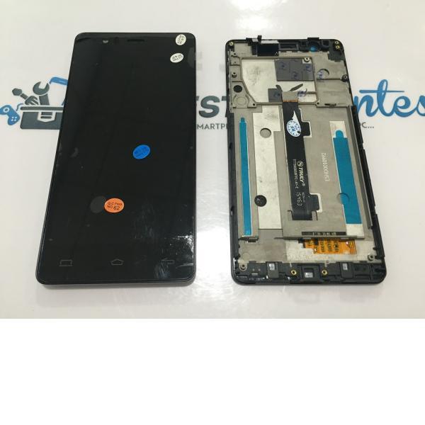 PANTALLA LCD + TACTIL CON MARCO ORIGINAL BQ AQUARIS E5 HD TFT5K0858FPC-A1-E NEGRA