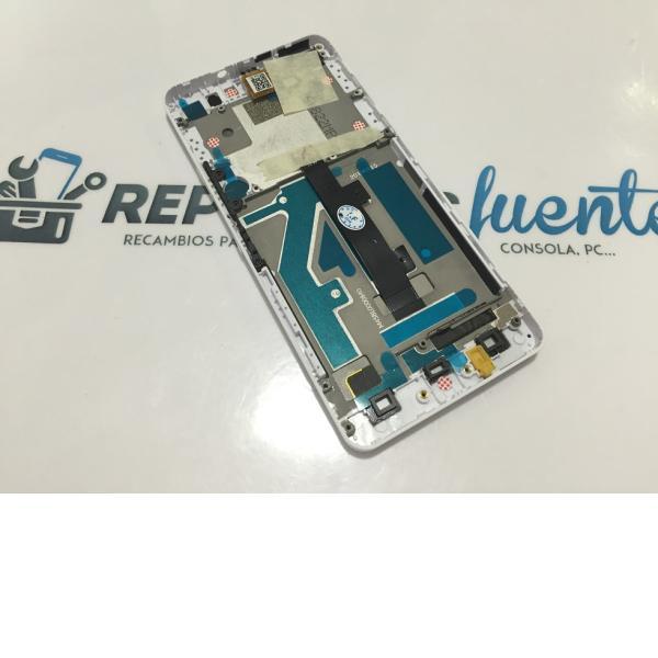 PANTALLA LCD + TACTIL CON MARCO ORIGINAL BQ AQUARIS A4.5 - BLANCA