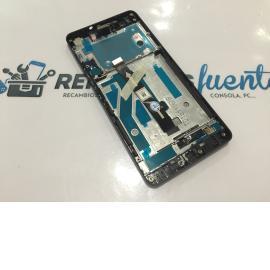 PANTALLA LCD + TACTIL CON MARCO ORIGINAL BQ AQUARIS M5 - BLANCA