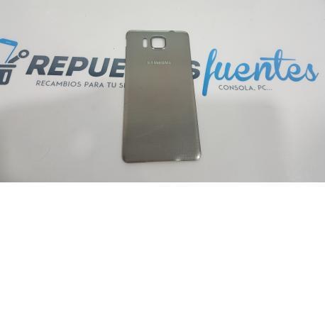 Tapa trasera Carcasa Original para Samsung Galaxy Alpha SM-G850F Plata - Recuperada