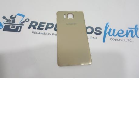 Tapa trasera Carcasa Original para Samsung Galaxy Alpha SM-G850F Dorado - Recuperada