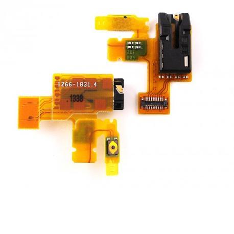 Flex de enceddido y Jack de audio SONY XPERIA Z TABLET SGP 321, 311, 312, 341, 351