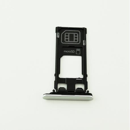 Bandeja de Tarjeta SIM y MicroSD para Xperia X Performance F8131 - Blanca