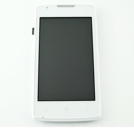 PANTALLA LCD DISPLAY + TACTIL CON MARCO PARA LENOVO A1000 - BLANCA