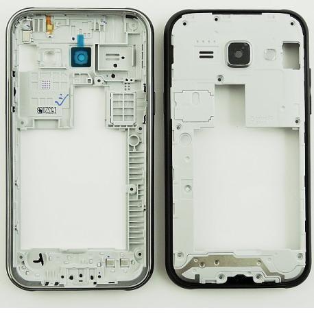 Repuesto Carcasa Intermedia con Lente de Camara Samsung Galaxy J100 J1 Negro - Recuperada