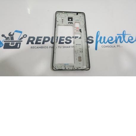 Carcasa Intermedia con Lente de Camara para Samsung Galaxy Note 4 SM-N910 Negro - Recuperada