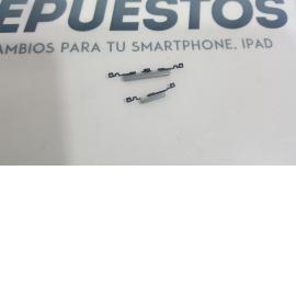 BOTONES CARCASA INTERMEDIA SAMSUNG GALAXY S3 MINI I8190 I8200 I8200N PLATA - RECUPERADO