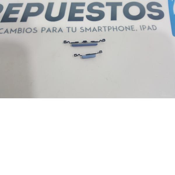 BOTONES CARCASA INTERMEDIA SAMSUNG GALAXY S3 MINI I8190 I8200 I8200N AZUL - RECUPERADO