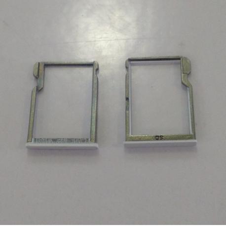 Bandeja porta tarjeta SD para BQ Aquaris M5.5 - Blanca