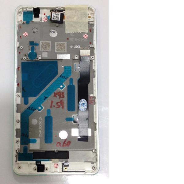 PANTALLA LCD DISPLAY + TACTIL CON MARCO ORIGINAL PARA BQ AQUARIS X5 - BLANCA