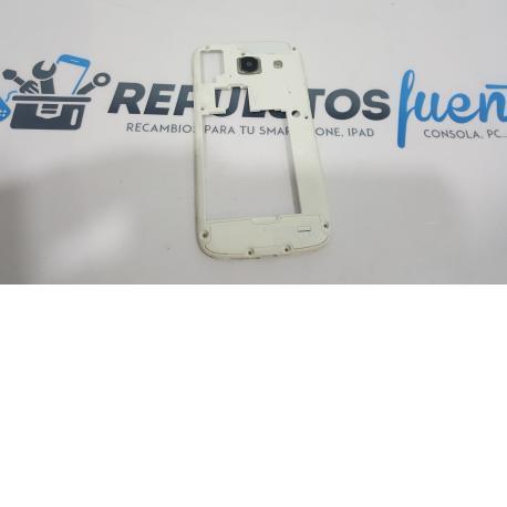 Carcasa Intermedia con Lente para Samsung Galaxy Core i8260 Blanca - Recuperada