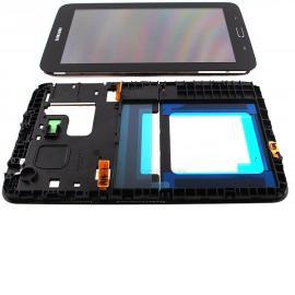 PANTALLA LCD + TACTIL CON MARCO ORIGINAL SAMSUNG GALAXY TAB 3 LITE SM-T110 T110 - NEGRA