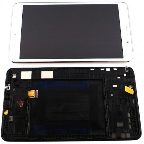 PANTALLA LCD DISPLAY + TACTIL CON MARCO ORIGINAL PARA SAMSUNG GALAXY TAB 4 7.0 3G T235 - BLANCA