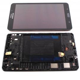 PANTALLA LCD DISPLAY + TACTIL CON MARCO ORIGINAL PARA SAMSUNG GALAXY TAB 4 7.0 3G T235 - NEGRA