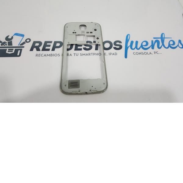 CARCASA INTERMEDIA CON ALTAVOZ , BOTONES DE ENCENDIDO Y VOLUMEN PARA SAMSUNG GALAXY S4 I9505 BLANCO - RECUPERADA