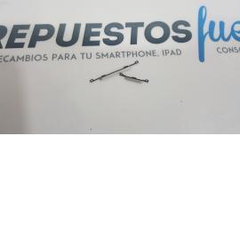 BOTONES VOLUMEN + ENCENDIDO CARCASA INTERMEDIA ORIGINAL SAMSUNG GALAXY S4 I9500 I9505 PLATA - RECUPERADO