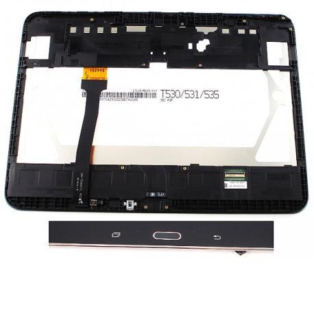 PANTALLA LCD DISPLAY + TACTIL CON MARCO ORIGINAL PARA SAMSUNG T530 GALAXY TAB 4 10.1 WIFI, T535 TAB 4 10.1 LTE