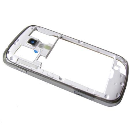 Carcasa Intermdia con Lente de Camara Original Samsung Galaxy S7560 S7580 Blanca