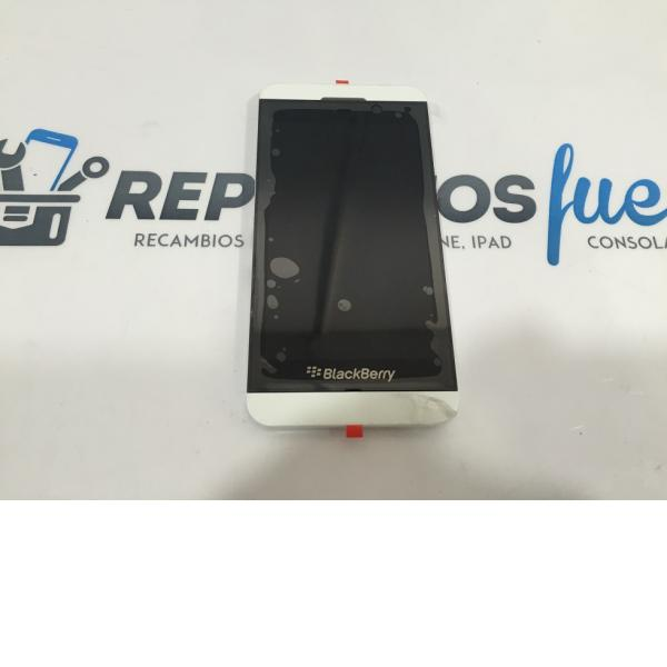PANTALLA LCD DISPLAY + TACTIL CON MARCO BLACKBERRY Z10 3G (15PIN 001/111) - BLANCA